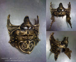 Steampunk Carnival Battle Mask by RouletteDantes
