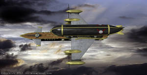HMS Amaranth, Airship of the Outlanders, III by RouletteDantes