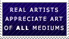 Appreciate Art Stamp by Tsaalyo