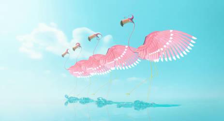 La Vie en Vert - Flamingos 2 by SecamStation