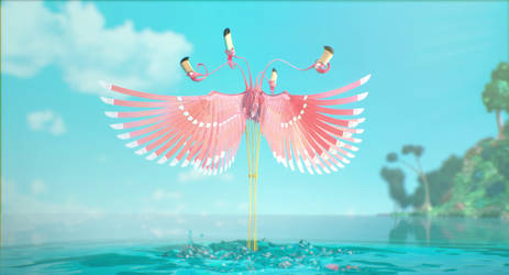 La Vie en Vert - Flamingos 3 by SecamStation