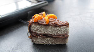 Chocolate Cake with Orange Slices by damnheliotrope