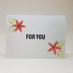 thank you card - red flowers by inconsistentsea