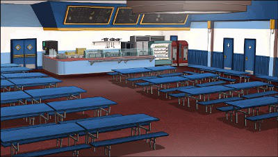 School cafeteria by gamma102