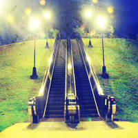 Escalator to heaven or hell by xinsation