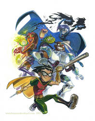 Teen Titans looking stupid by potatofarmgirl