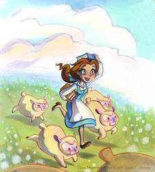 Belle Stealing Books by potatofarmgirl