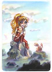 Wonder Girl's crabby friend by potatofarmgirl
