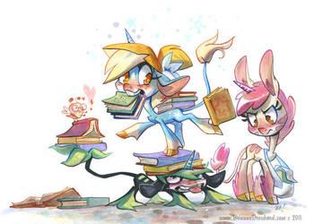 Unicorns and Books by potatofarmgirl