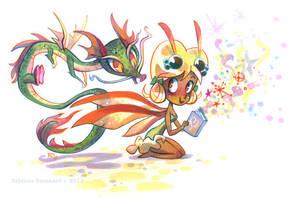 Little Dragon's Story Time by potatofarmgirl
