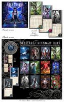 Anne Stokes 2011 calendar by Ironshod