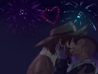 new year's kiss by anobouzu