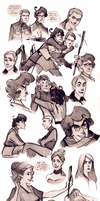 Soldier Side sketchdump by Phobs