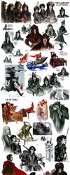 Historical sketchdump IX by Phobs