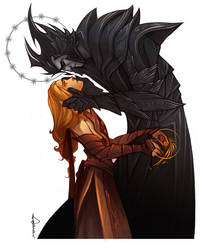 Silmarillion Melkor seducing Mairon by Phobs