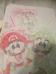 Mario and Luigi by MarioWorldLover