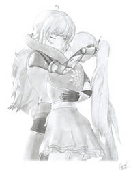 Rwby | Weiss and Yang [Freezerburn] by Emperial-Dawn
