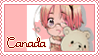 Canada Pastel Stamp by Angelinia