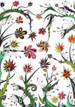 Colored Flowers by Dessins-Fantastiques