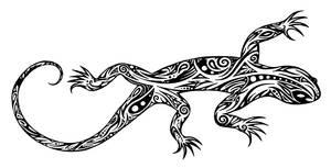Tribal lizard by Dessins-Fantastiques