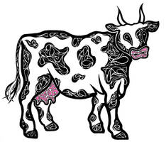 Tribal Cow by Dessins-Fantastiques