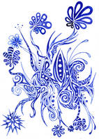 Little Flowers Sketch by Dessins-Fantastiques