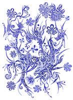 Blue Flowers 12 by Dessins-Fantastiques