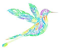 Tribal Hummingbird by Dessins-Fantastiques