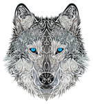 Tribal Wolf by Dessins-Fantastiques