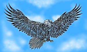 Tribal Eagle by Dessins-Fantastiques