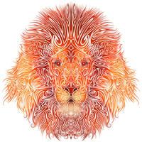 Tribal Lion by Dessins-Fantastiques