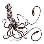Tribal Giant Squid by Dessins-Fantastiques