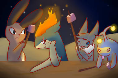 BBQ Collab with Shamekeeper12 by Frostiln