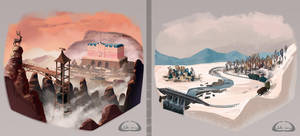 The Grand Budapest Hotel - Environment Studies by Parcel-Sisters