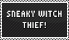 Stamp - Sneaky Witch Thief by bluster-squall