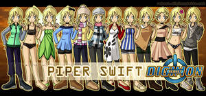 Character Outfits - Piper by bluster-squall