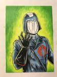 Cobra Commander sketch card by shaotemp