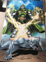 Doctor Doom Silver Surfer Print  by shaotemp