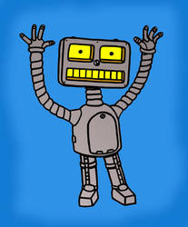 PopFuzz The Robot T-Shirt Art by PopFuzz
