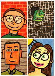 ATC Artist trading card set 4 by PopFuzz