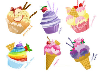 MLP: FiM mane 6 sweets :3 by IIFOG