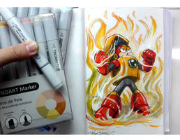 Heatman with Sinoart Markers by thiagospyked