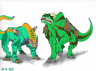 DB Green Dragons by Moonshadow01