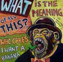 the philosopher monkey by badbasilisk
