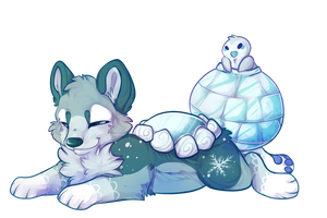 Ice Fox Pond DTA entry 2 by Maonii