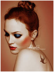 Leighton Meester colourization by FatButterfly