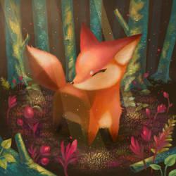 serene fox by Cortoony