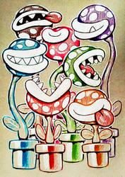doodle piranhas by Cortoony