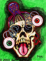 Googlie Eye Skull by Dr-Twistid