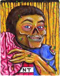 Bailey Zombie Portrait by Dr-Twistid